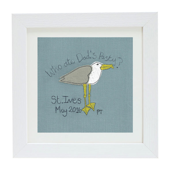 cheeky seagull - personalised picture