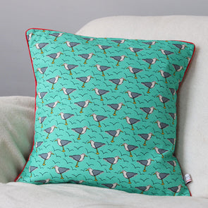 seagull cushion with piping
