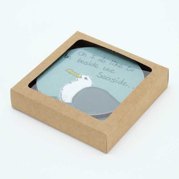 cheeky seagull - set of 4 coasters