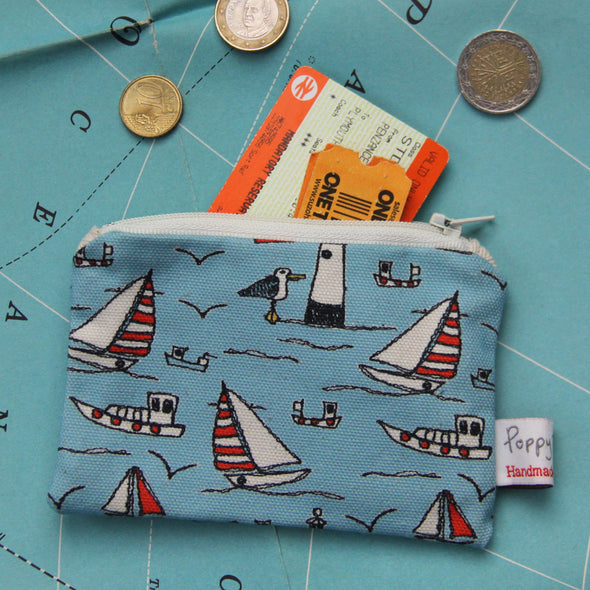 seaside - small useful purse