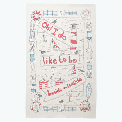seaside - tea towel