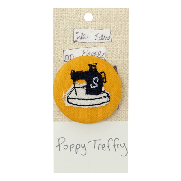 sewing machine - pretty badge