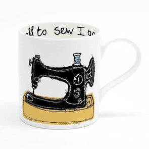sewing - bone china mug