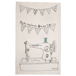 sewing machine - tea towel