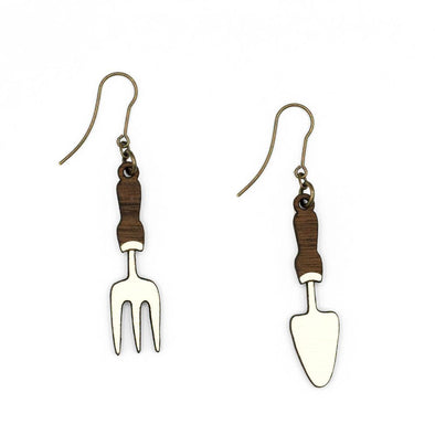 Materia Rica fork and spade earrings