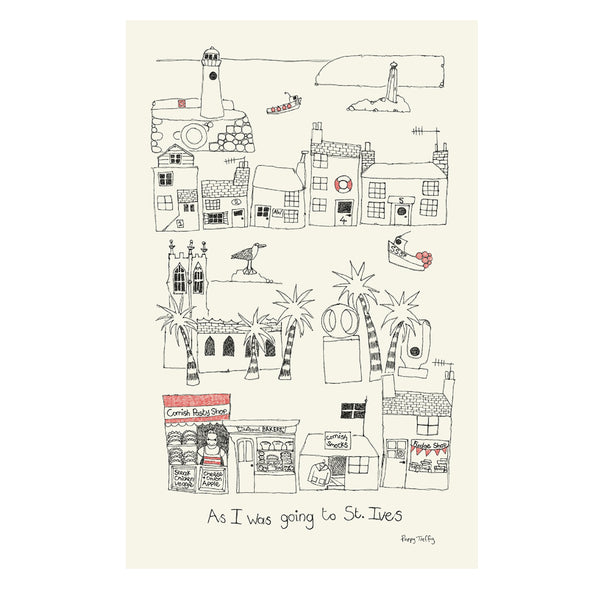 St Ives - tea towel