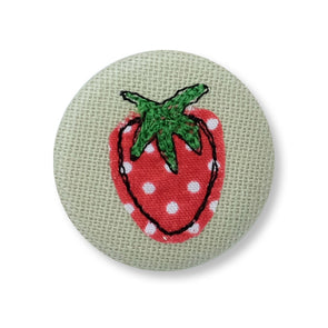 Strawberries and cream - pretty badge