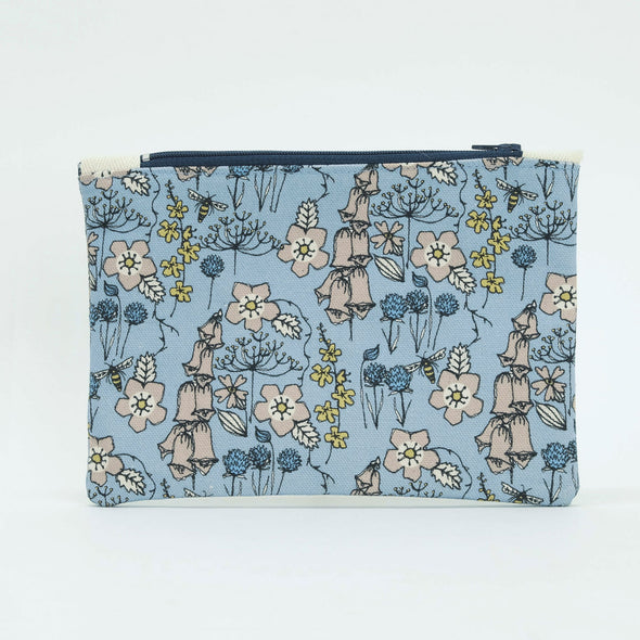 Wild flowers - flat purse with keyring