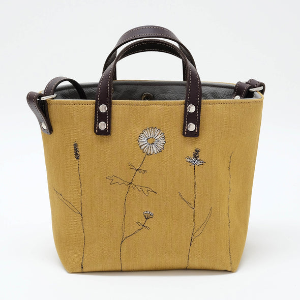 wild grasses - mini sketchbook tote