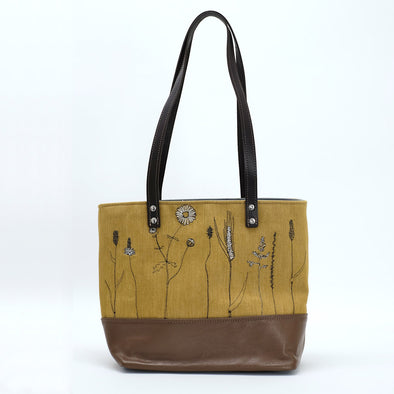 Wild Grasses - sketchbook tote
