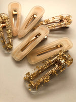 Beige Marble Clips