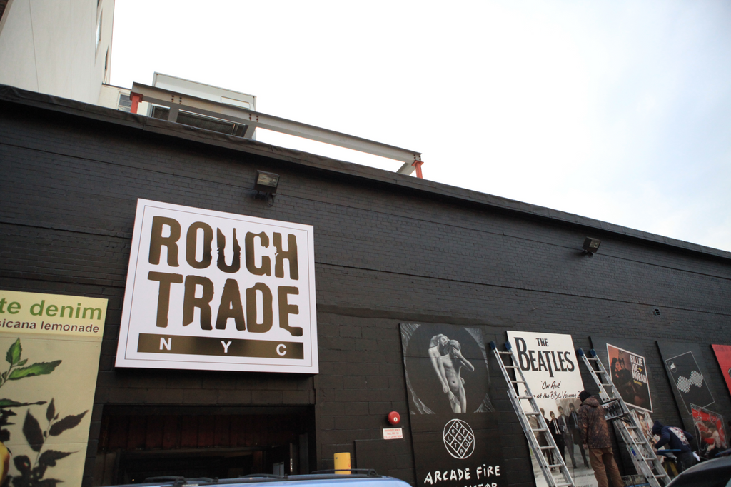 Rough Trade NYC custom wallpaper