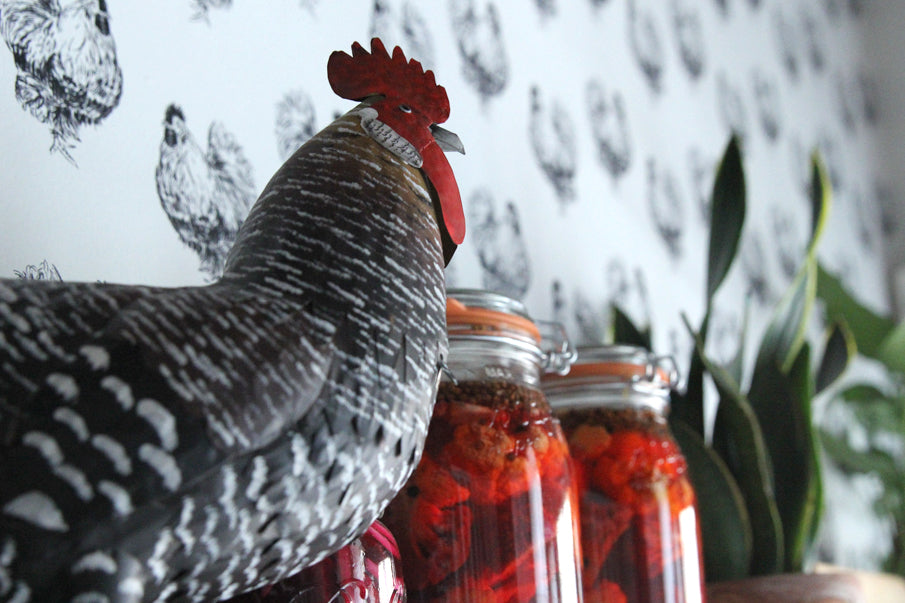 Cluck cluck – custom wallpaper in NYC