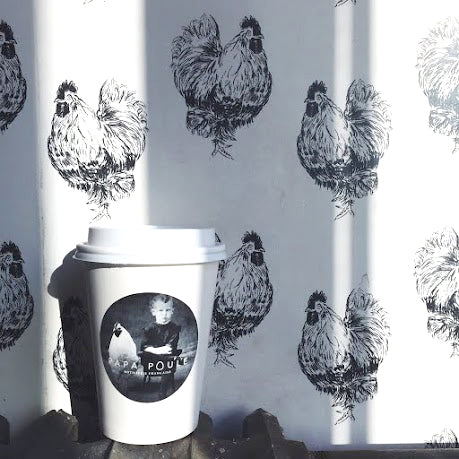 Custom wallpaper for Papa Poule by Candice Kaye