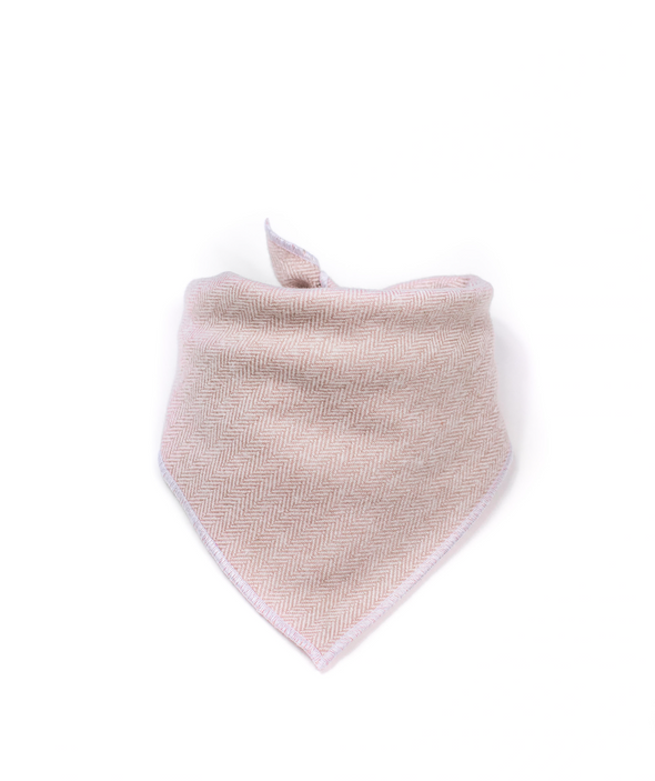 Blush Herringbone Dog Bandana