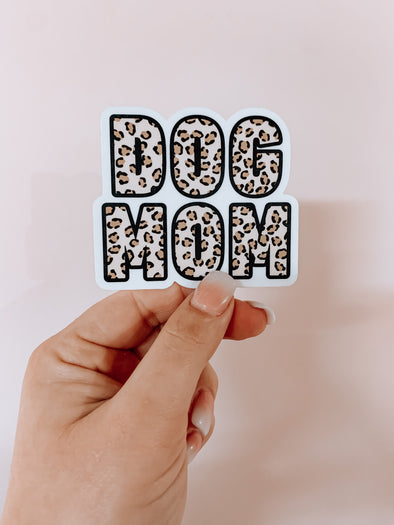 Cheetah Dog Mom Sticker made by Royal Collections and Co.