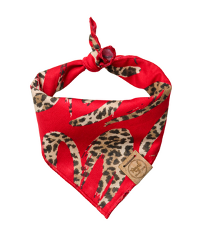 Cheetah Love Valentine's Day Dog Bandana made by Royal Collections and Co.