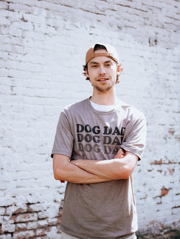 Dog Dad Tee sold by Royal Collections and Co. made by Dapper Paw