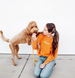 Dog Mom Corded Crewneck