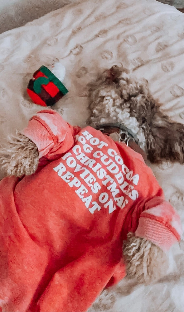 Hot Cocoa, Dog Cuddles, and Christmas Movies on Repeat Holiday Crewneck