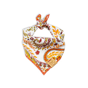 Fall Paisley Dog Bandana made by Royal Collections and Co.