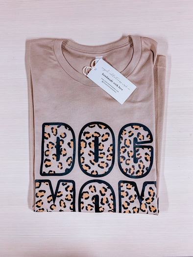 Cheetah Dog Mom Tee