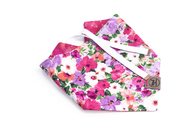 Garden Party Summer Dog bandana made by Royal Collections and Co.