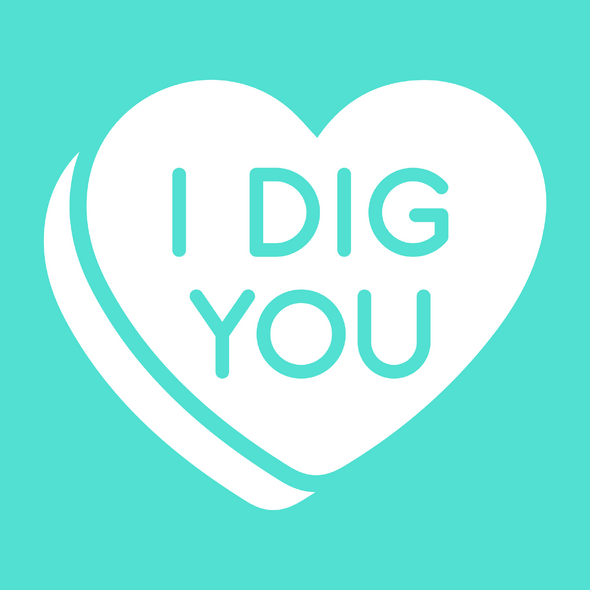 I Dig You Candy Hearts Valentines Day Dog Bandana made by Royal Collections and Co
