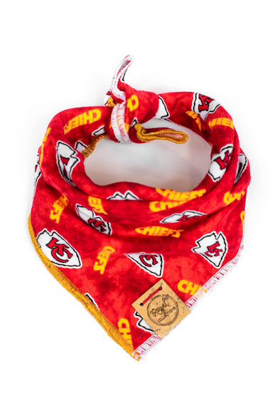 Chiefs Flannel Dog Bandana