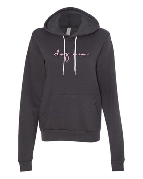 LIMITED EDITION Minimal Dog Mom Hoodie - Grey and Pink