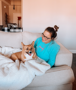 Minimal Dog Mom Long Sleeve Tee - Mint