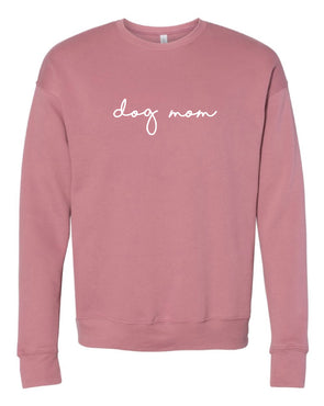 Minimal Dog Mom Crewneck - Mauve
