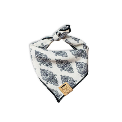 Neutral Paisley Dog Bandana made by Royal Collections and Co.