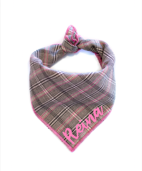 School Girl Dog Bandana made by Royal Collections and Co.