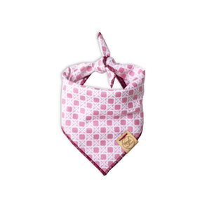 Pretty in Pink Dog Bandana made by Royal Collections and Co.