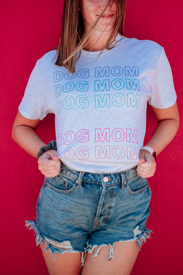 Rainbow Dog Mom T-Shirt sold by Royal Collections and Co.