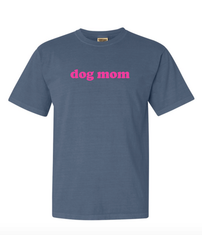 Minimal Dog Mom Tee - Navy