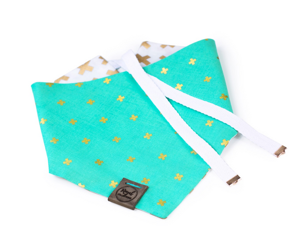 X Marks the Spot Reversible Dog Bandana made by Royal Collections and Co.
