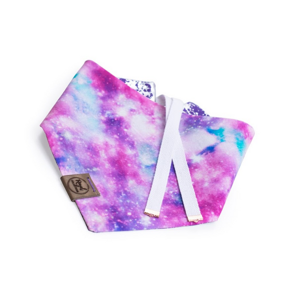 Cotton Candy Galaxy Reversible Dog Bandana