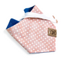 Pink and Silver Dots Denim bandana made by Royal Collections and Co.