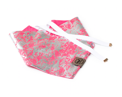 Metallic Blast - Coral Reversible Dog Bandana