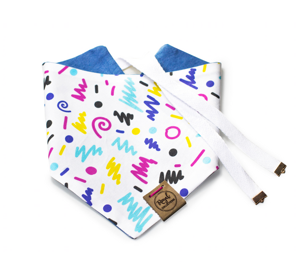 90's Kid Reversible Dog Bandana