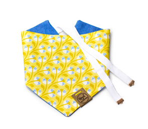 Dandelion Dreams Reversible Dog Bandana
