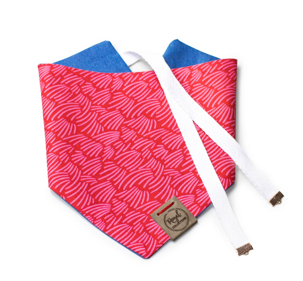 Red Wheat Reversible Dog Bandana