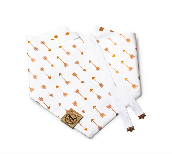 Dots and Arrows Reversible Dog Bandana made by Royal Collections and Co.