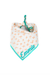 Peach and Aqua X Summer Dog Bandana made by Royal Collections and Co.
