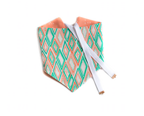 Spring Geo - Coral and Teal Reversible Dog Bandana
