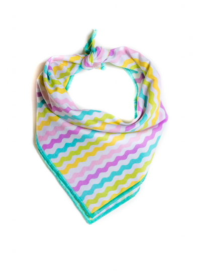 Pastel Stipes Dog Bandana