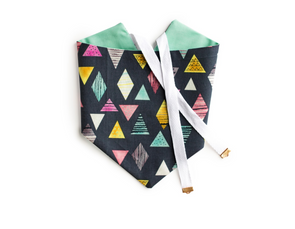 Spring Geo - Charcoal and Mint Reversible Dog Bandana