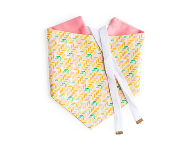 Spring Bloom - Pink Reversible Dog Bandana